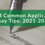ink pen writing on a paper, common application essay tips