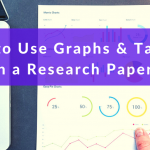 how to use graphs and charts in a research paper with purple banner